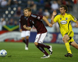 Aug 1, 2009, Columbus Crew vs Colorado Rapids - Jordan Harvey Photographic Print by Garrett Ellwood