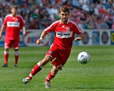 Apr 20, 2008, Kansas City Wizards vs Chicago Fire - Gonzalo Segares Photographic Print by Brian Kersey