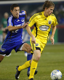 Nov 1, 2008, MLS Playoffs - Columbus Crew vs Kansas City Wizards - Brian Carroll Photographic Print by Scott Pribyl