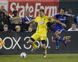 Nov 1, 2008, MLS Playoffs - Columbus Crew vs Kansas City Wizards - Chad Marshall Photographic Print by Scott Pribyl