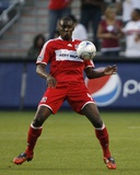 Aug 1, 2009, Real Salt Lake vs Chicago Fire - Bakary Soumare Photographic Print by Brian Kersey