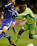 Oct 17, 2009, Seattle Sounders FC vs Kansas City Wizards - Steve Zakuani Photographic Print by Gary Rohman