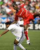 May 31, 2008, Los Angeles Galaxy vs Toronto FC - Maurice Edu Photographic Print by Paul Giamou