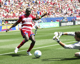 Aug 18, 2008, Los Angeles Galaxy vs FC Dallas - Dominic Oduro Photo by Rick Yeatts