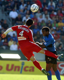 2003 MLS Cup: Nov 23, San Jose Earthquakes vs Chicago Fire - Carlos Bocanegra Photographic Print by Steve Grayson