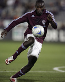Oct 4, 2008, Houston Dynamo vs Colorado Rapids - Omar Cummings Photographic Print by Garrett Ellwood