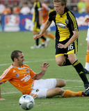 Aug 2, 2008, Columbus Crew vs Houston Dynamo - Brian Carroll Photographic Print by Thomas B. Shea