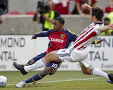 Oct 31, 2008, Real Salt Lake vs Chivas USA - Bobby Burling Photographic Print by George Frey