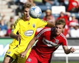Oct 12, 2008, Columbus Crew vs Chicago Fire - Chad Marshall Photographic Print by Brian Kersey
