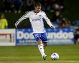 Oct 18, 2008, San Jose Earthquakes vs Kansas City Wizards - Jason Hernandez Photographic Print by Scott Pribyl