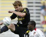 May 28, 2005, MetroStars vs Columbus Crew - Chad Marshall Photographic Print by Jay Laprete