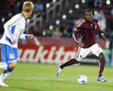 Sep 23, 2009, San Jose Earthquakes vs Colorado Rapids - Omar Cummings Photographic Print by Garrett Ellwood