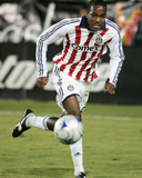 Oct 11, 2008, Chivas USA vs San Jose Earthquakes - Atiba Harris Photographic Print by Sara Wolfram