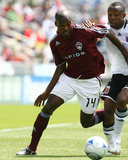 May 4, 2008, D.C. United vs Colorado Rapids - Omar Cummings Photographic Print by Garrett Ellwood