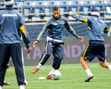 Nov 21, 2009, Los Angeles Galaxy Practice for MLS Cup - Sean Franklin Photo by Robert Mora