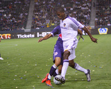May 2, 2009, New York Red Bulls vs Los Angeles Galaxy - Edson Buddle Photographic Print by Robert Mora