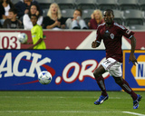 Jul 25, 2009, New York Red Bulls vs Colorado Rapids - Omar Cummings Photographic Print by Garrett Ellwood