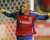 Oct 9, 2008, New York Red Bulls vs Real Salt Lake - Jamison Olave Photographic Print by George Frey