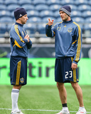 Nov 21, 2009, Los Angeles Galaxy Practice for MLS Cup - Mike Magee Photographic Print by Robert Mora