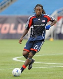 Aug 23, 2009, Real Salt Lake vs New England Revolution - Shalrie Joseph Photographic Print by Keith Nordstrom