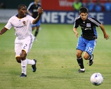 Jun 14, 2008, Los Angeles Galaxy vs San Jose Earthquakes - Shea Salinas Photographic Print by Sara Wolfram