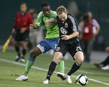Sep 2, 2009, US Open Cup - Seattle Sounders FC vs D.C. United - Steve Zakuani Photographic Print by Tony Quinn