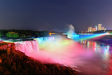 Niagara Falls Lit at Night by Colorful Lights Photographic Print by Songquan Deng