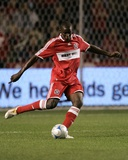 Sep 25, 2008, Los Angeles Galaxy vs Chicago Fire - Bakary Soumare Photographic Print by Brian Kersey