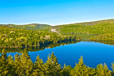 Panorama Lake of Sacacomie  in Quebec Canada Photo by  OSTILL