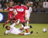 Oct 2, 2009, Chicago Fire vs Los Angeles Galaxy - Patrick Nyarko Photographic Print by German Alegria