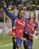 Oct 9, 2008, Real Salt Lake vs New York Red Bull - Jamison Olave Photographic Print by George Frey