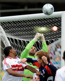2009 Conference Semifinals Game One: Nov 1, Chicago Fire vs New England Revolution- Jon Busch Photographic Print by Keith Nordstrom