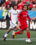 Oct 17, 2009, Real Salt Lake vs Toronto FC - Kyle Beckerman Photographic Print by Paul Giamou