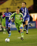 Oct 17, 2009, Seattle Sounders FC vs Kansas City Wizards - Jack Jewsbury Photographic Print by Gary Rohman