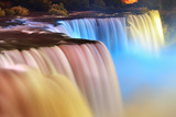 Niagara Falls Lit at Night by Colorful Lights Prints by Songquan Deng