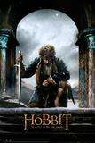 The Hobbit Battle of the Five Armies - Bilbo kneel Affiches