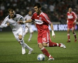 Sep 25, 2008, Los Angeles Galaxy vs Chicago Fire - Gonzalo Segares Photographic Print by Brian Kersey