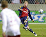 Oct 9, 2008, New York Red Bulls vs Real Salt Lake - Nat Borchers Photographic Print by George Frey