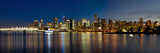 Vancouver Bc Skyline from Stanley Park during Blue Hour Posters by  jpldesigns