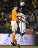 2009 Western Conference Championship: Nov 13, Houston Dynamo vs Los Angeles Galaxy - Edson Buddle Photographic Print by German Alegria