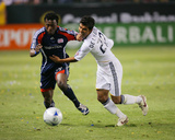 Jul 4, 2009, New England Revolution vs Los Angeles Galaxy - AJ DeLaGarza Photographic Print by Robert Mora