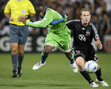 Sep 13, 2009, Seattle Sounders FC vs D.C. United - Steve Zakuani Photographic Print by Tony Quinn