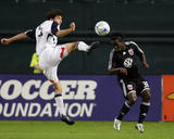 Oct 17, 2008, New England Revolution vs D.C. United - Michael Parkhurst Photographic Print by Tony Quinn