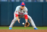 85th MLB All Star Game: Jul 15, 2014 - Chase Utley Photographic Print by Rob Carr