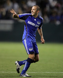 May 30, 2009, Kansas City Wizards vs Los Angeles Galaxy - Davy Arnaud Photographic Print by German Alegria