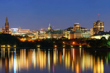 Ottawa at Night over River with Historical Architecture. Posters by Songquan Deng