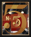 I Saw the Figure 5 in Gold Estampe encadrée par Charles Demuth