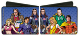 The Big Bang Theory Superhero Characters Wallet Wallet