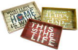 Morris Home Happy and Life Trays - Set of 3 Home Accessories
