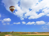Scenic Hot Air Balloon in Free Flight. Gorgeous Day in April in Southern Photographic Print by  kavram